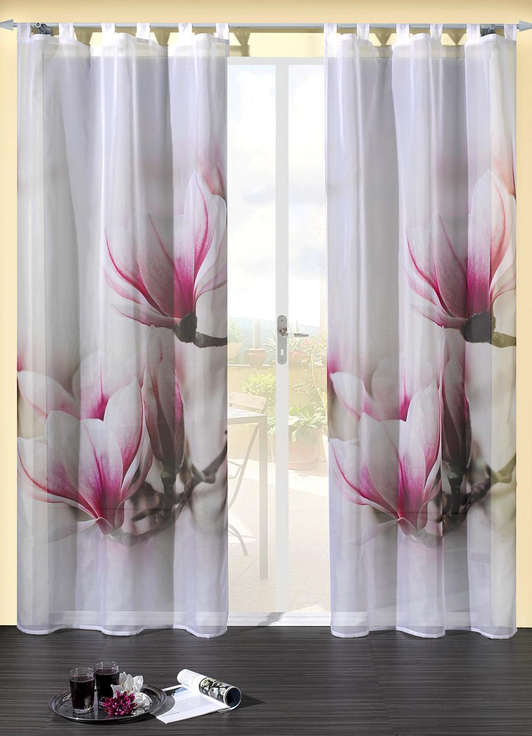 dekoschal magnolien gardinen brigitte hachenburg. Black Bedroom Furniture Sets. Home Design Ideas