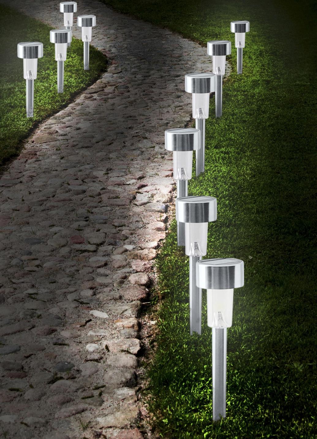 solar steckleuchten 10er set gartenbeleuchtung brigitte hachenburg. Black Bedroom Furniture Sets. Home Design Ideas