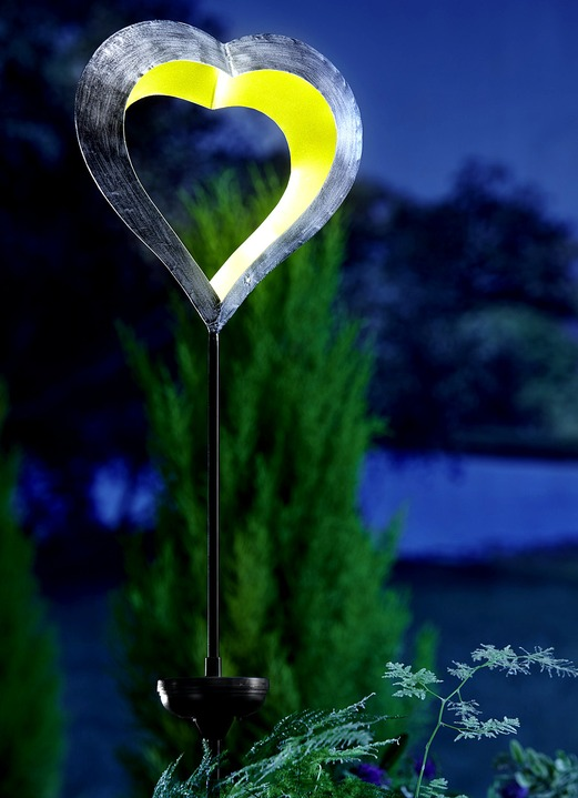 Extrem Solarleuchte Schwebendes Herz - Leuchtende Dekoration | Brigitte ME78