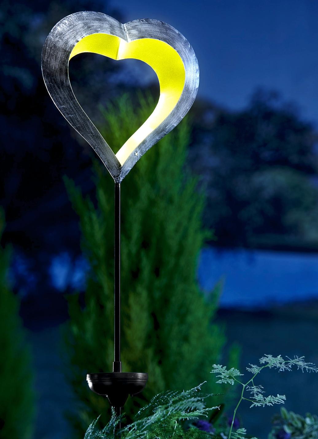 Solarleuchte Schwebendes Herz Leuchtende Dekoration