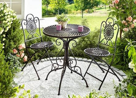 Gartenmöbel Set, 3 Teilig