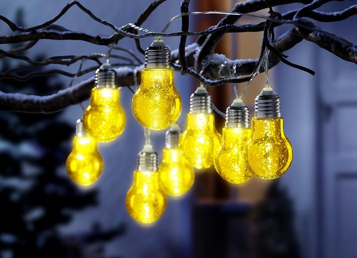 lichterkette gl hbirnen in 2 farben au endekorationen brigitte hachenburg. Black Bedroom Furniture Sets. Home Design Ideas