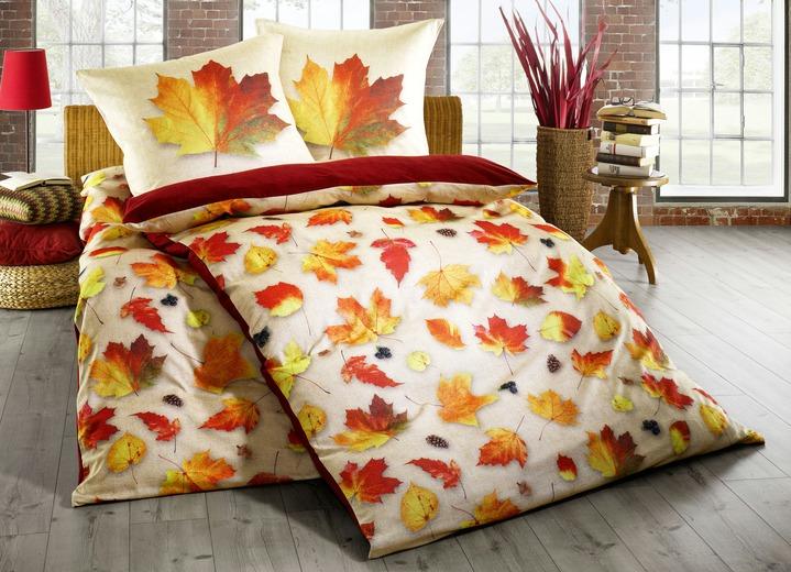 bettw sche garnitur mit herbstblatt motiven bettw sche brigitte hachenburg. Black Bedroom Furniture Sets. Home Design Ideas