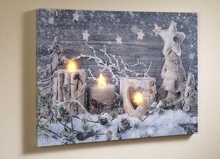 Led bild mit batteriebetriebener beleuchtung - Bader weihnachtsdeko ...