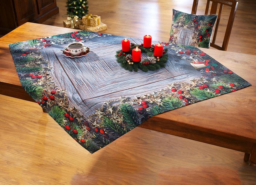 tisch und raumdekoration mit sternen und gl ckchen tischdecken brigitte hachenburg. Black Bedroom Furniture Sets. Home Design Ideas