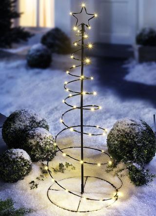 Leuchtende weihnachtsdeko auben