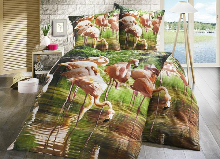 bettw sche garnitur mit flamingo motiv bettw sche brigitte hachenburg. Black Bedroom Furniture Sets. Home Design Ideas