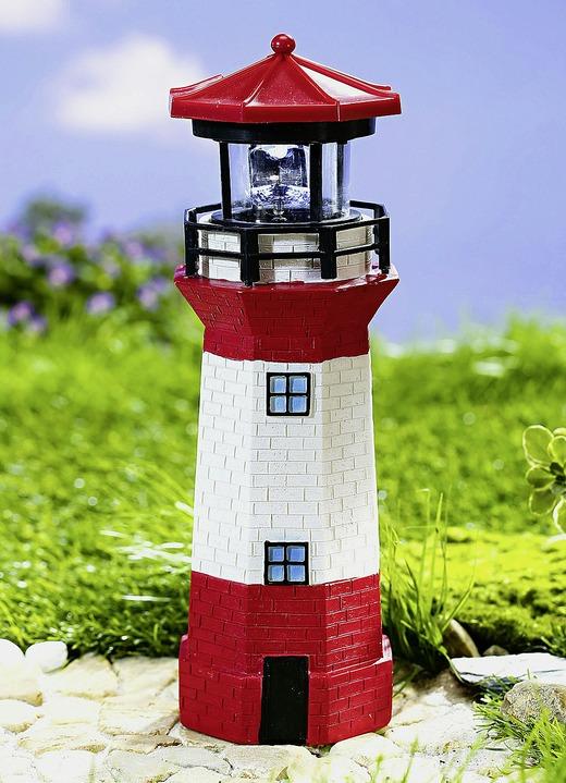 Leuchtturm mit solar leuchtfeuer gartenbeleuchtung brigitte hachenburg - Christbaumschmuck leuchtturm ...