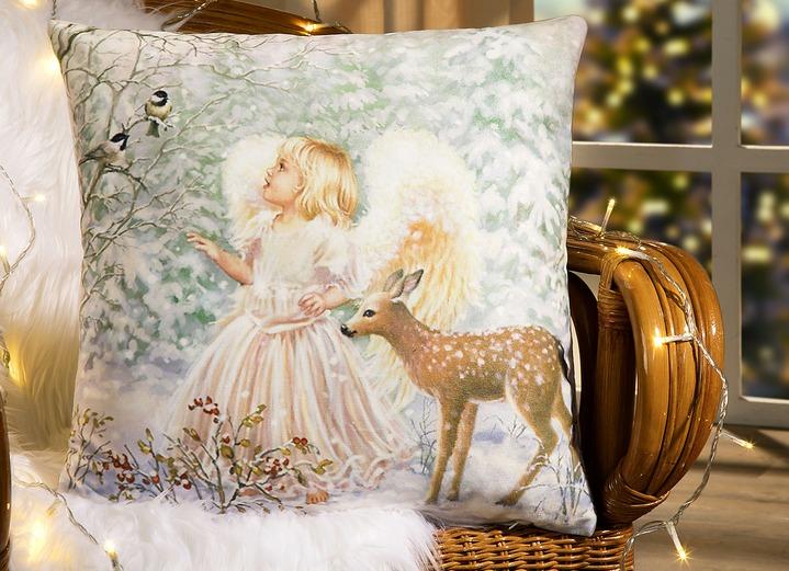 Kissenbezug engel mit rehkitz kissenbez ge brigitte for Brigitte hachenburg weihnachten