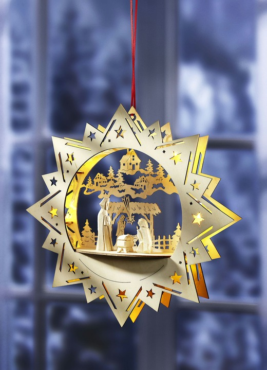 beleuchteter fensterstern weihnachtliche dekorationen. Black Bedroom Furniture Sets. Home Design Ideas