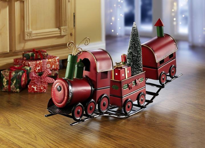 zug aus metall weihnachtliche dekorationen brigitte. Black Bedroom Furniture Sets. Home Design Ideas