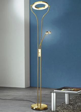 led deckenfluter mit lesearm in verschiedenen farben - Wohnzimmer Lampen