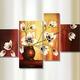 """4-teiliges Bild """"Magnolien in Vase"""" vom Künstler Rumin"""