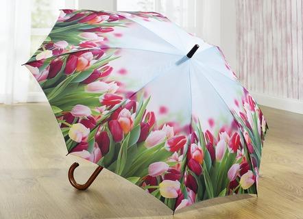 Regenschirm Mit Tulpenmotiv